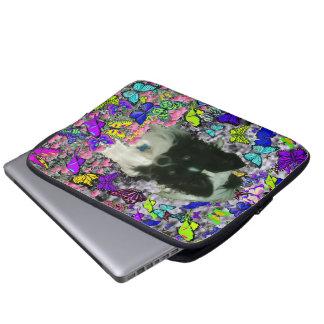 Matisse in Butterflies II - White & Black Papillon Laptop Sleeves