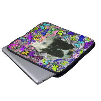 Matisse in Butterflies II - White & Black Papillon Computer Sleeve