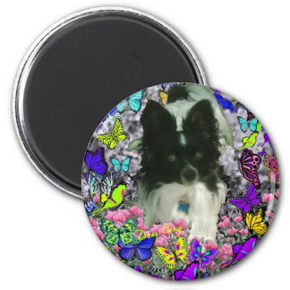 Matisse in Butterflies II - White & Black Papillon Magnet