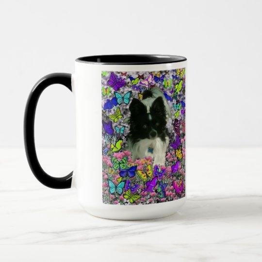 Matisse in Butterflies II - White & Black Papillon Mug