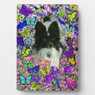Matisse in Butterflies II - White & Black Papillon Plaque