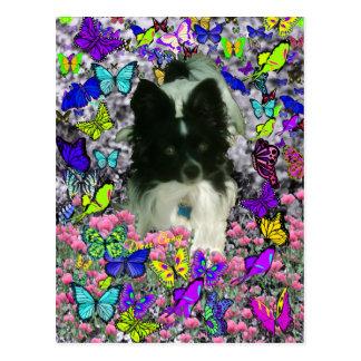 Matisse in Butterflies II - White & Black Papillon Postcard