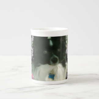 Matisse in Butterflies II - White & Black Papillon Tea Cup