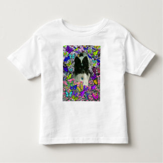 Matisse in Butterflies II - White & Black Papillon Toddler T-shirt