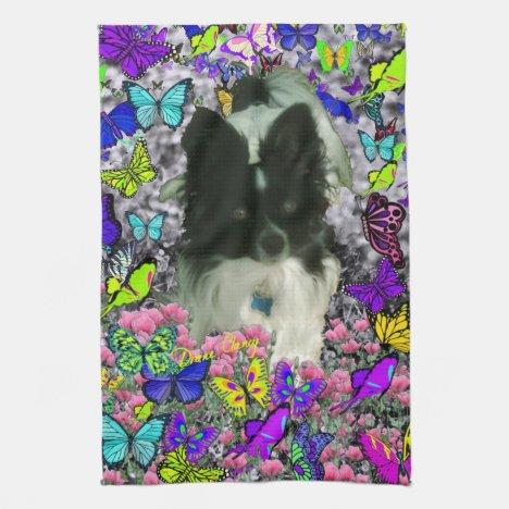 Matisse in Butterflies II - White & Black Papillon Towel