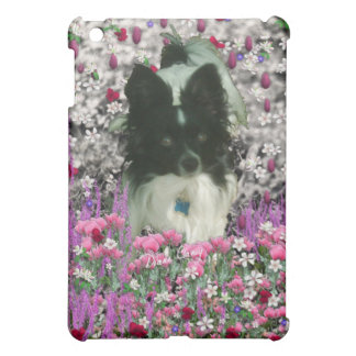 Matisse in Flowers - White & Black Papillon Dog iPad Mini Cases