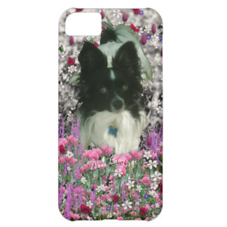 Matisse in Flowers - White & Black Papillon Dog iPhone 5C Case