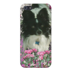 Case Savvy iPhone 5 Matte Finish Case with Papillon Phone Cases design