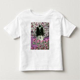 Matisse in Flowers - White & Black Papillon Dog Shirt