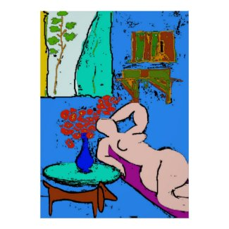 Matisse Nude with Dachshund 2 print