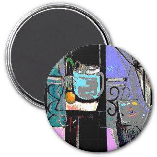 Matisse Style Coffee Mug 3 Inch Round Magnet