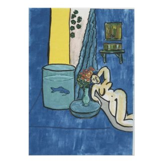 Matisse Style Nude with Fish print