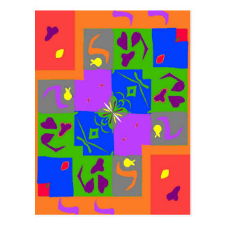 Matisse Style Shapes Postcard