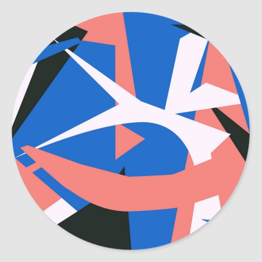 Matissian Abstract Classic Round Sticker
