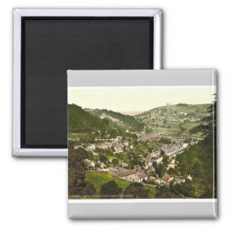 Matlock Bath, from Heights of Jacob, Derbyshire, E Refrigerator Magnet