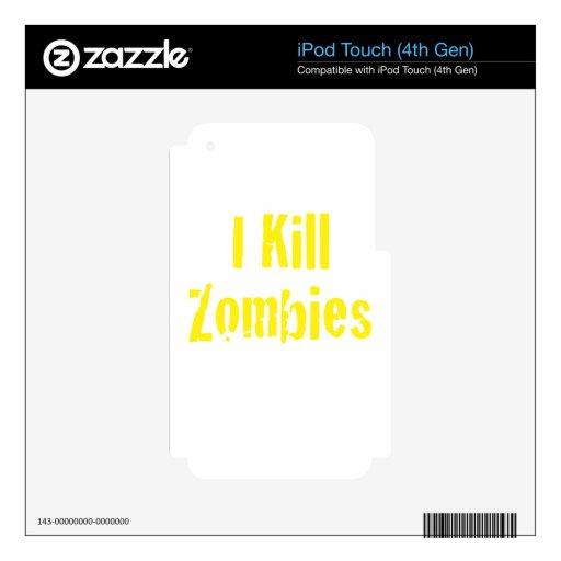 Mato a zombis calcomanía para iPod touch 4G