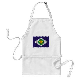 Mato Grosso, Brazil Waving Flag Adult Apron
