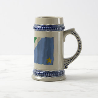 Mato Grosso do Sul & Brazil Waving Flags Beer Stein