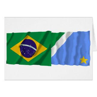Mato Grosso do Sul & Brazil Waving Flags Card