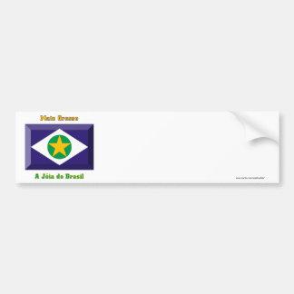 Mato Grosso Flag Gem Car Bumper Sticker