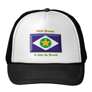 Mato Grosso Flag Gem Trucker Hat