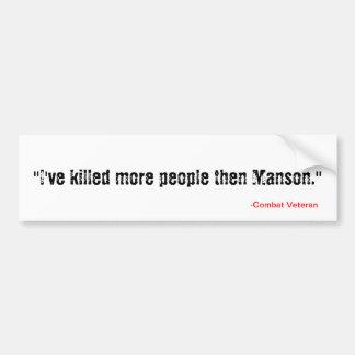 Mató más entonces a Manson (es la verdad no es él. Pegatina Para Auto