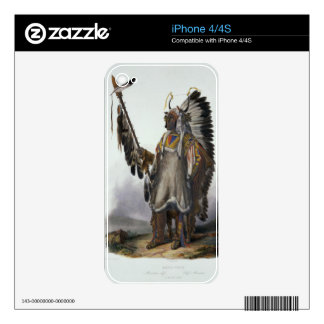 Mato-Tope, a Mandan Chief, plate 13 from Volume 2 Decals For The iPhone 4