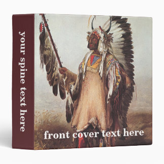 Mato-Tope, A Mandan Chief Portrait by Karl Bodmer Vinyl Binder