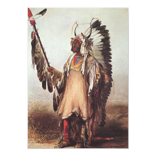 Mato-Tope, A Mandan Chief Portrait by Karl Bodmer Card