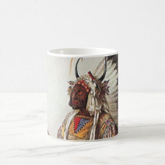 Mato-Tope, A Mandan Chief Portrait by Karl Bodmer Coffee Mug