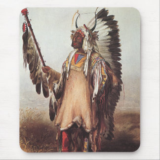 Mato-Tope, A Mandan Chief Portrait by Karl Bodmer Mouse Pad