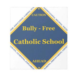 Matón - escuela católica libre bloc de papel
