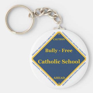 Matón - escuela católica libre llavero redondo tipo pin