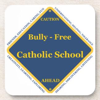 Matón - escuela católica libre posavasos de bebidas