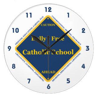 Matón - escuela católica libre reloj redondo grande