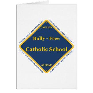 Matón - escuela católica libre tarjeta de felicitación