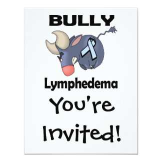 """Matón Lymphedema Invitación 4.25"""" X 5.5"""""""