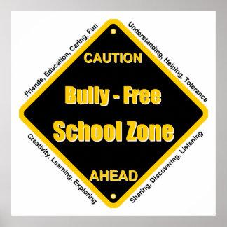 Matón - poster de la escuela libre
