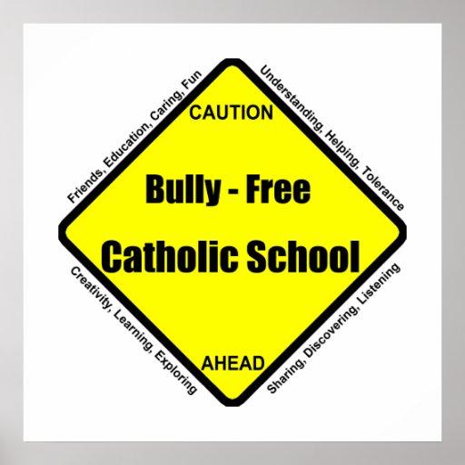 Matón - poster libre de la escuela católica