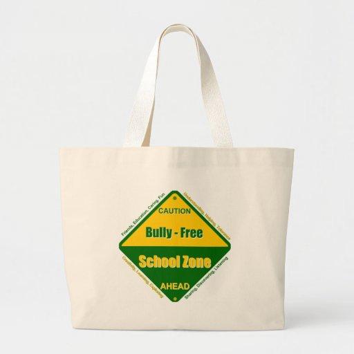 Matón - zona de la escuela libre bolsas lienzo