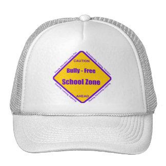Matón - zona de la escuela libre gorros bordados