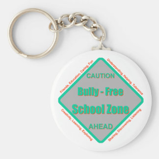 Matón - zona de la escuela libre llavero redondo tipo pin