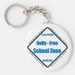 Matón - zona de la escuela libre llaveros personalizados