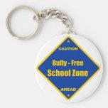 Matón - zona de la escuela libre llavero personalizado