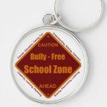Matón - zona de la escuela libre llaveros