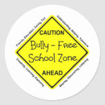 Matón - zona de la escuela libre pegatinas