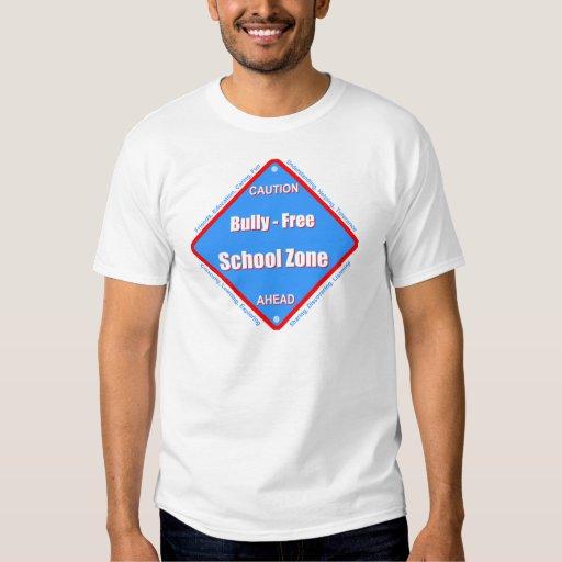 Matón - zona de la escuela libre playeras