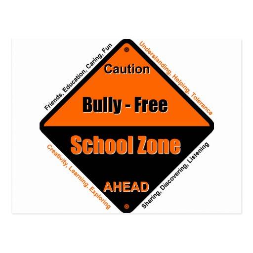 Matón - zona de la escuela libre postal