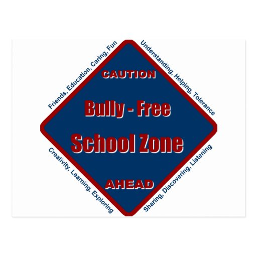 Matón - zona de la escuela libre tarjeta postal