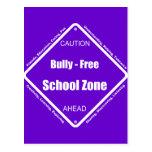 Matón - zona de la escuela libre tarjetas postales